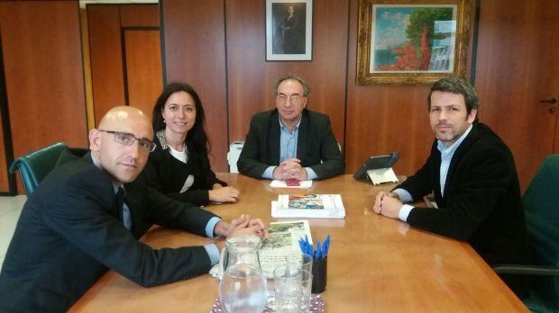 Toni Sánchez Grao, Ángeles Durán, Martí March y Manuel Aguilera reunidos este miércoles 11 de mayo 2016
