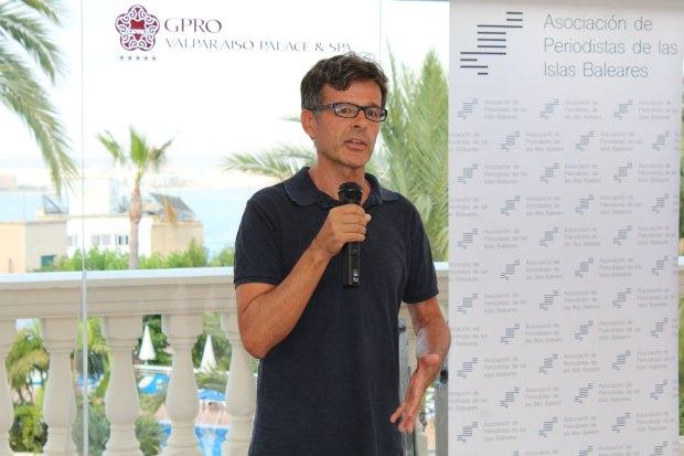 José Miguel Romero en el acto del I Premio de Periodismo APIB.