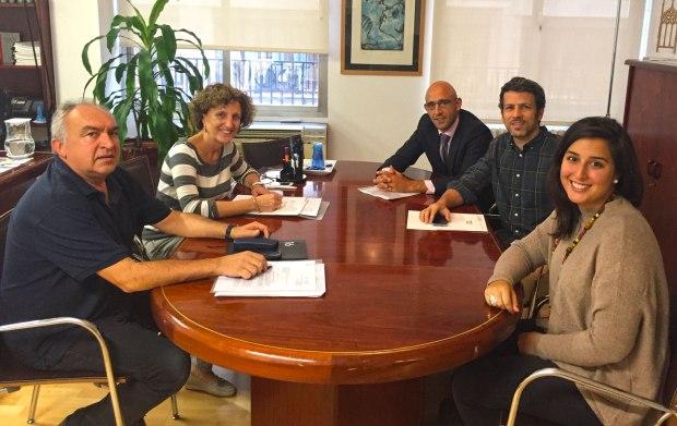 De esquerra a dreta: Tomeu Barceló, Maria Alorda, Toni Sánchez, Manuel Aguilera i Blanca Lorduy.