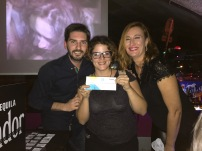 Luis Seoane, Iris Luque y Aina Gutiérrez fiesta APIB 2017